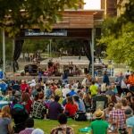 The park hosts hundreds of events per year including live music events, films, lectures on the Anheuser-Busch stage.