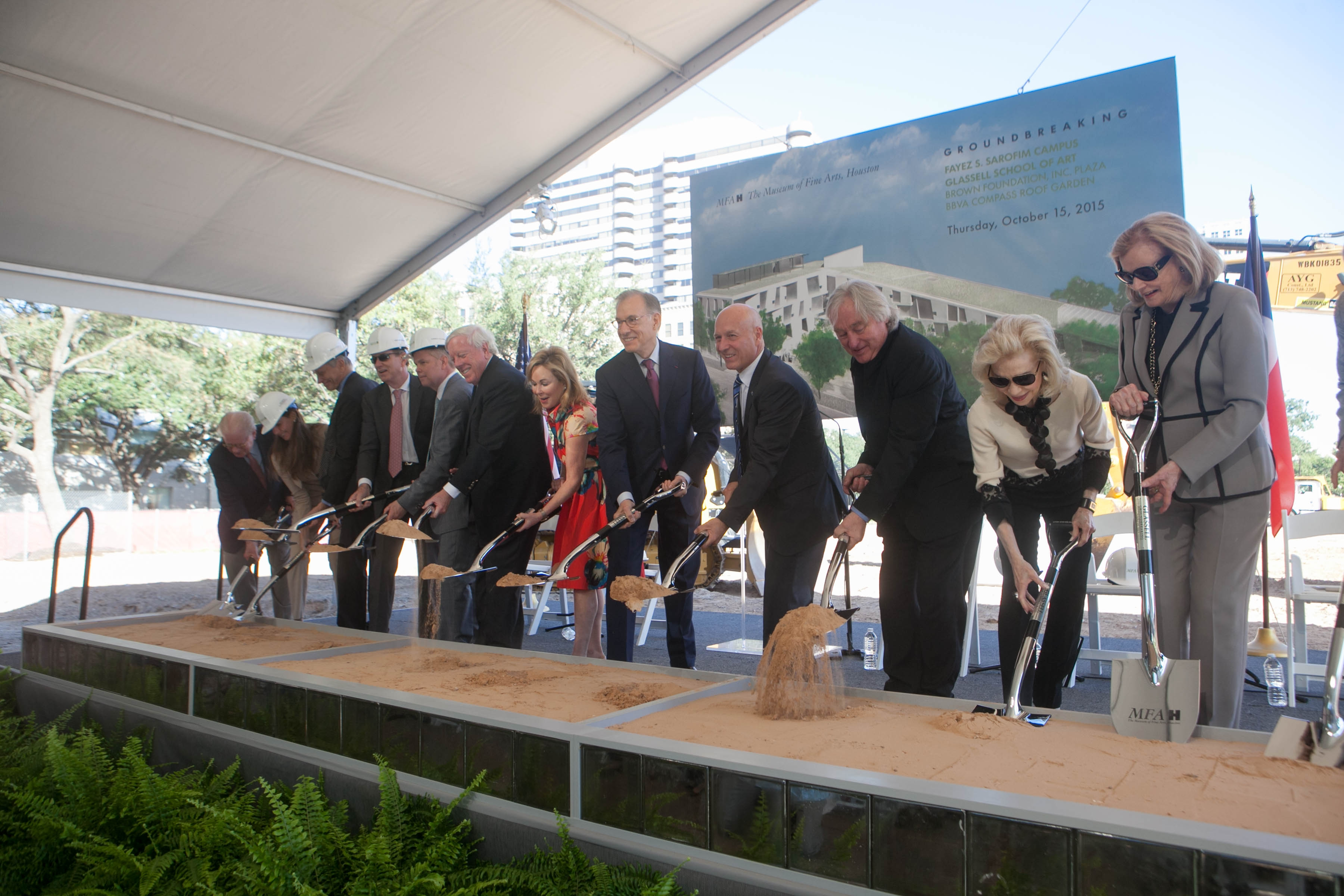 mfah breaks ground on campus and glassell school kinder foundation